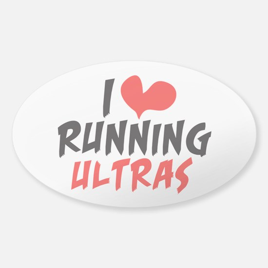 I heart Running Ultras Sticker (Oval)