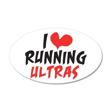 I heart Running Ultras 20x12 Oval Wall Decal
