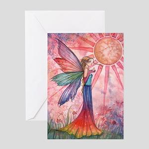 Sunshine and Rainbow Fairy Greeting Card