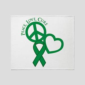 Peace, Love, Cure Throw Blanket