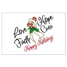 Holiday Hope Lung Cancer Large Poster