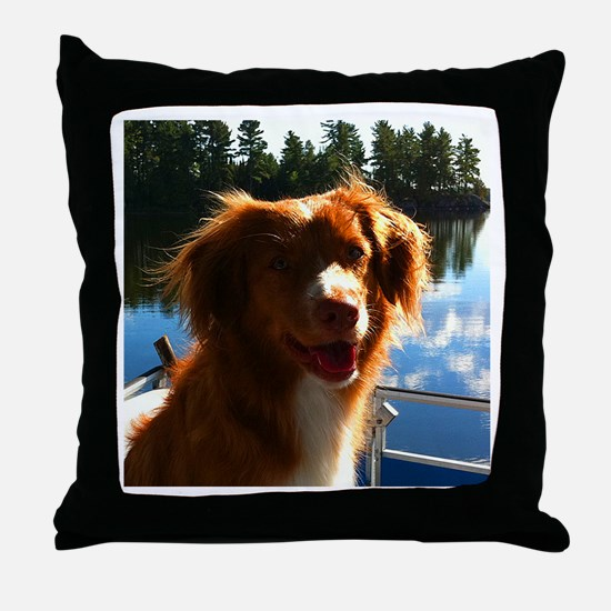 Duck Tollers Throw Pillow