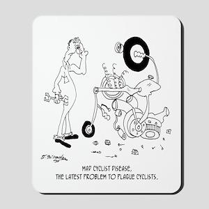 Mad Cyclist Disease Mousepad
