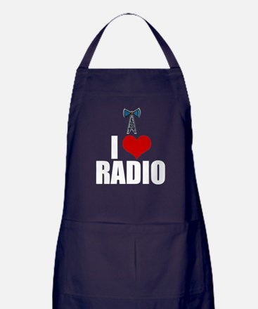 I Love Radio Apron (dark)