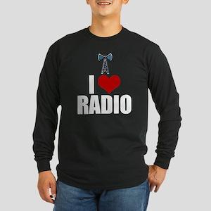 I Love Radio Long Sleeve Dark T-Shirt
