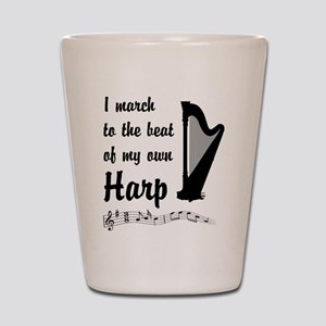March to the Beat: Harp Shot Glass