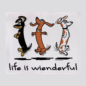 Life Is Wienderful Throw Blanket