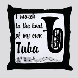 March to the Beat: Tuba Throw Pillow