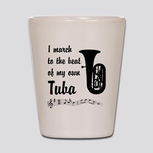 March to the Beat: Tuba Shot Glass