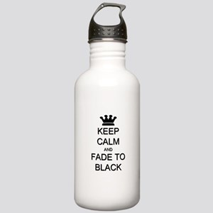 Keep Calm Fade to Black Stainless Water Bottle 1.0