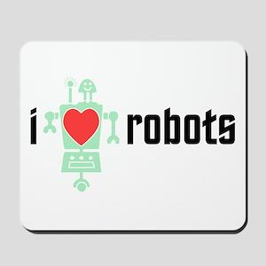 I Heart Robots Mousepad
