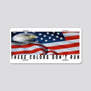 These colors don't run Aluminum License Plate