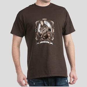 Old School Raptor Dark T-Shirt (sepia tone)