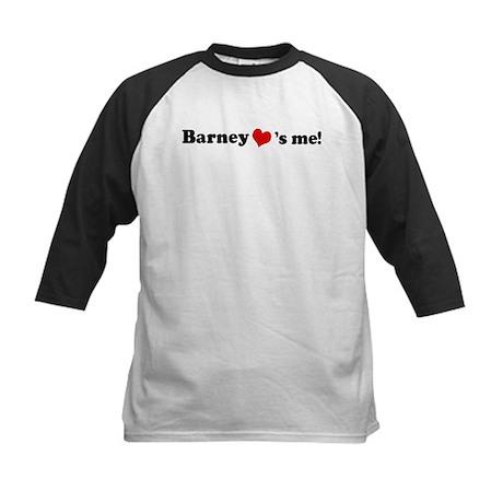 Barney loves me Kids Baseball Jersey