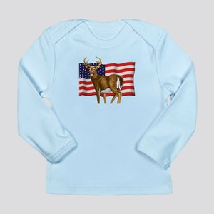 American White Tail Deer Buck Long Sleeve Infant T