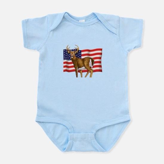 American White Tail Deer Buck Infant Bodysuit