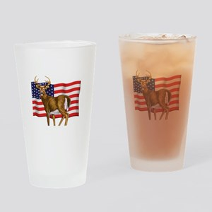 American White Tail Deer Buck Drinking Glass