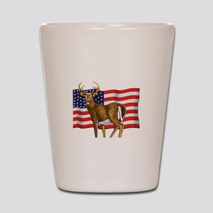 American White Tail Deer Buck Shot Glass
