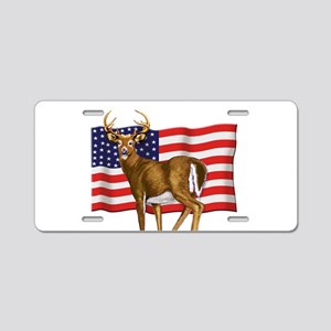 American White Tail Deer Buck Aluminum License Pla