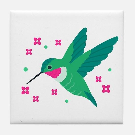 Delightful Little Hummingbird Tile Coaster