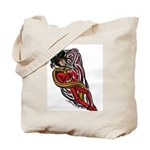 Comic Tornado Character in Red Tote Bag