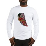 Comic Tornado Character in Red Long Sleeve T-Shirt