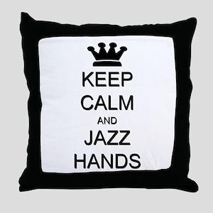 Keep Calm Jazz Hands Throw Pillow