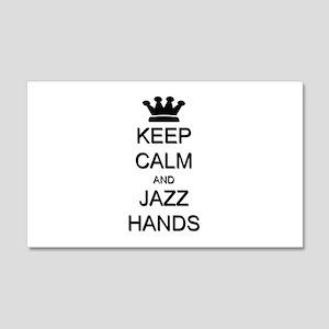 Keep Calm Jazz Hands 22x14 Wall Peel