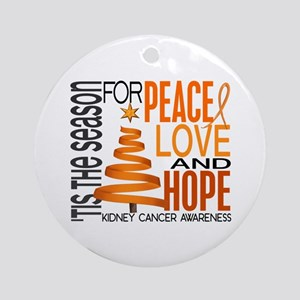 Christmas 1 Kidney Cancer Ornament (Round)