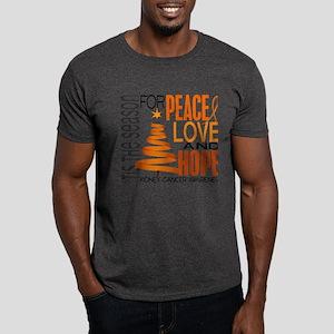 Christmas 1 Kidney Cancer Dark T-Shirt