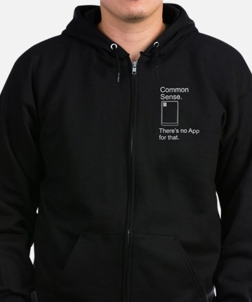 Common Sense App Zip Hoodie (dark)