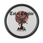 Total eclipse Large Wall Clock