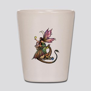 Dragon's Orbs Fairy and Dragon Art Shot Glass