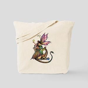 Dragon's Orbs Fairy and Dragon Art Tote Bag