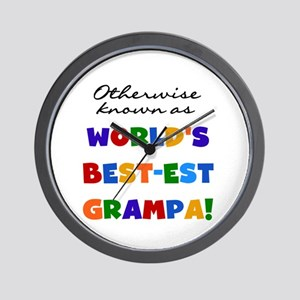 Otherwise Known Best Grampa Wall Clock