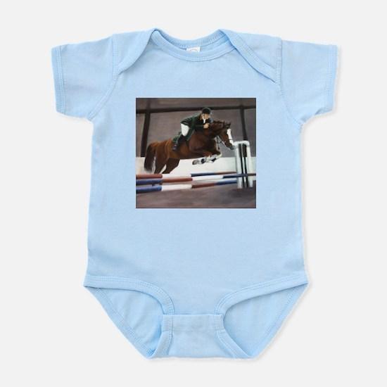 horse racing art  Infant Creeper