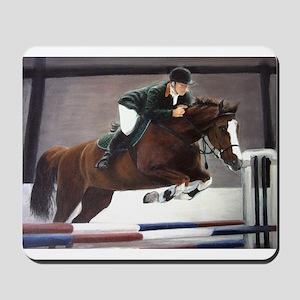 horse racing art  Mousepad