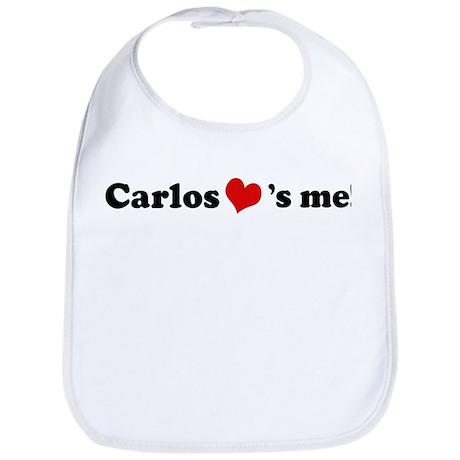 Carlos loves me Bib
