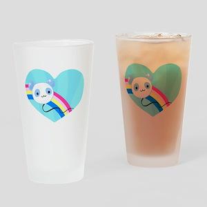Panda Balloon Drinking Glass