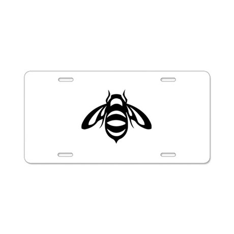 Bee Aluminum License Plate