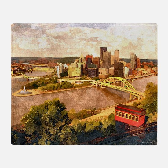 Cute Pittsburgh Throw Blanket