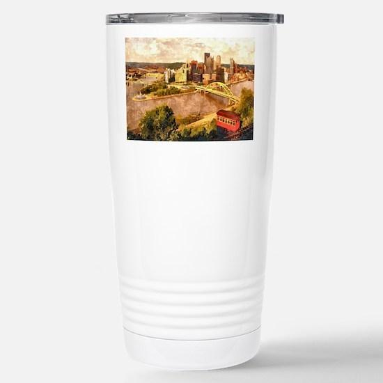 Cute Pittsburgh Travel Mug