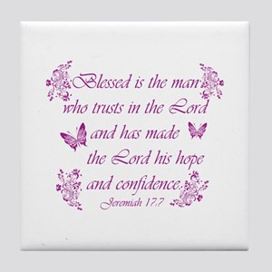 Inspirational Christian quotes Tile Coaster