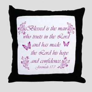 Inspirational Christian quotes Throw Pillow