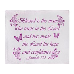 Inspirational Christian quotes Throw Blanket