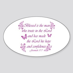 Inspirational Christian quotes Sticker (Oval)