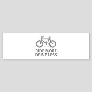 Ride more Drive less Sticker (Bumper)