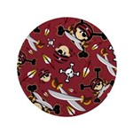 "Cute Bandana Pirate 3.5"" Button (100 Pk)"