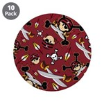 "Cute Bandana Pirate 3.5"" Button (10 Pk)"