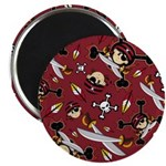 "Cute Bandana Pirate 2.25"" Magnet (10 Pk)"